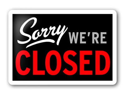 Sites CLOSED Sunday 3rd December